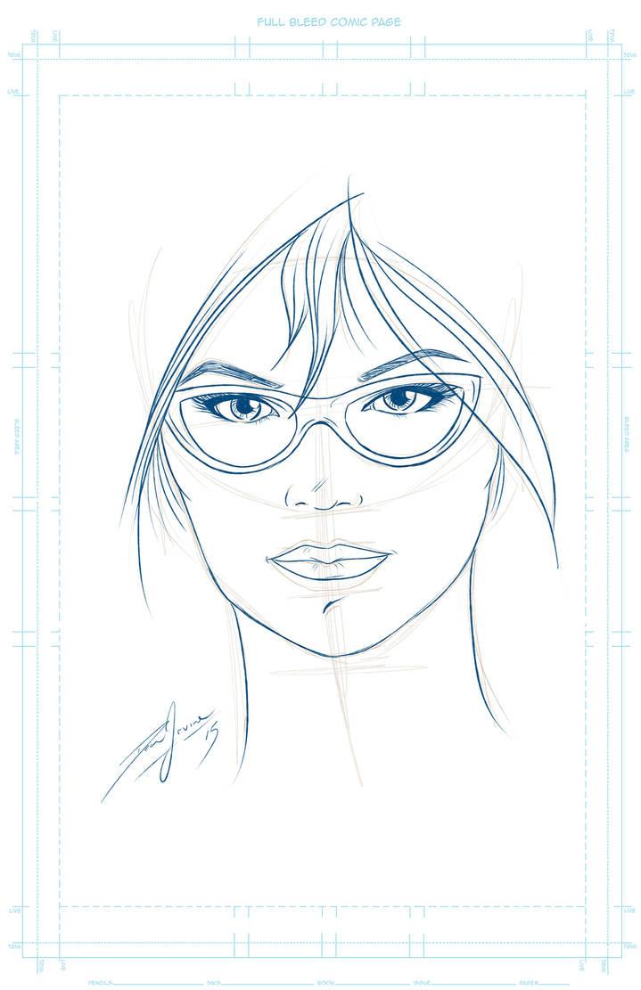 portrait speed sketch