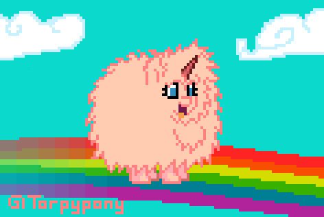 PonyTown: Fluffle Puff Dancing  ANIMATED GIF