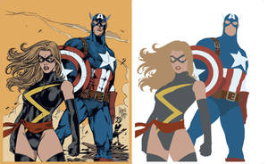 Ms Marvel Captain America Flat by alexasrosa