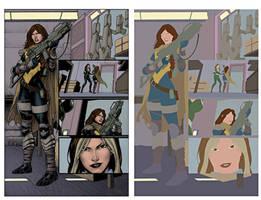 New Mutants page flats by alexasrosa