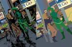 Black Canary Green Arrow flats