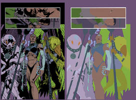 Green Lantern page flats by alexasrosa