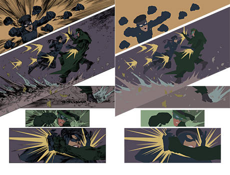 green hornet and kato sparring Flats