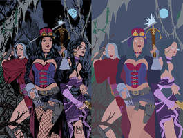 zenescope cover flats by alexasrosa
