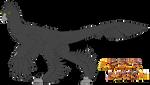 Microraptor Amber Design Template by PrimalInstincts