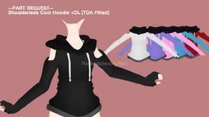 [MMD] REQUEST::Shoulderless Cool Hoodie +DL