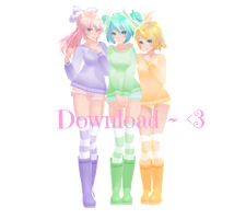 TDA Fluffy Miku, Luka and Rin Download by MMDFantasy1126