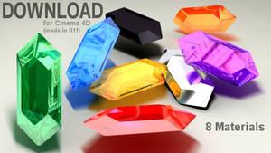 C4D Rupee Material Pack
