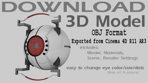 Model Download-GLaDOS Core OBJ