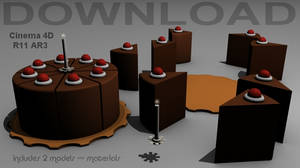 3D Model Download -Portal Cake