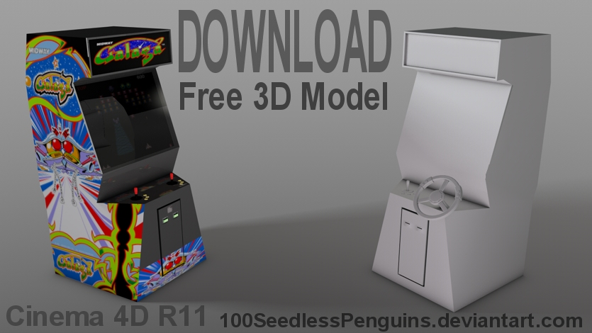 Free C4D Arcade Model by 100SeedlessPenguins on DeviantArt
