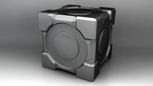 Model a Portal Cube 4 Minutes