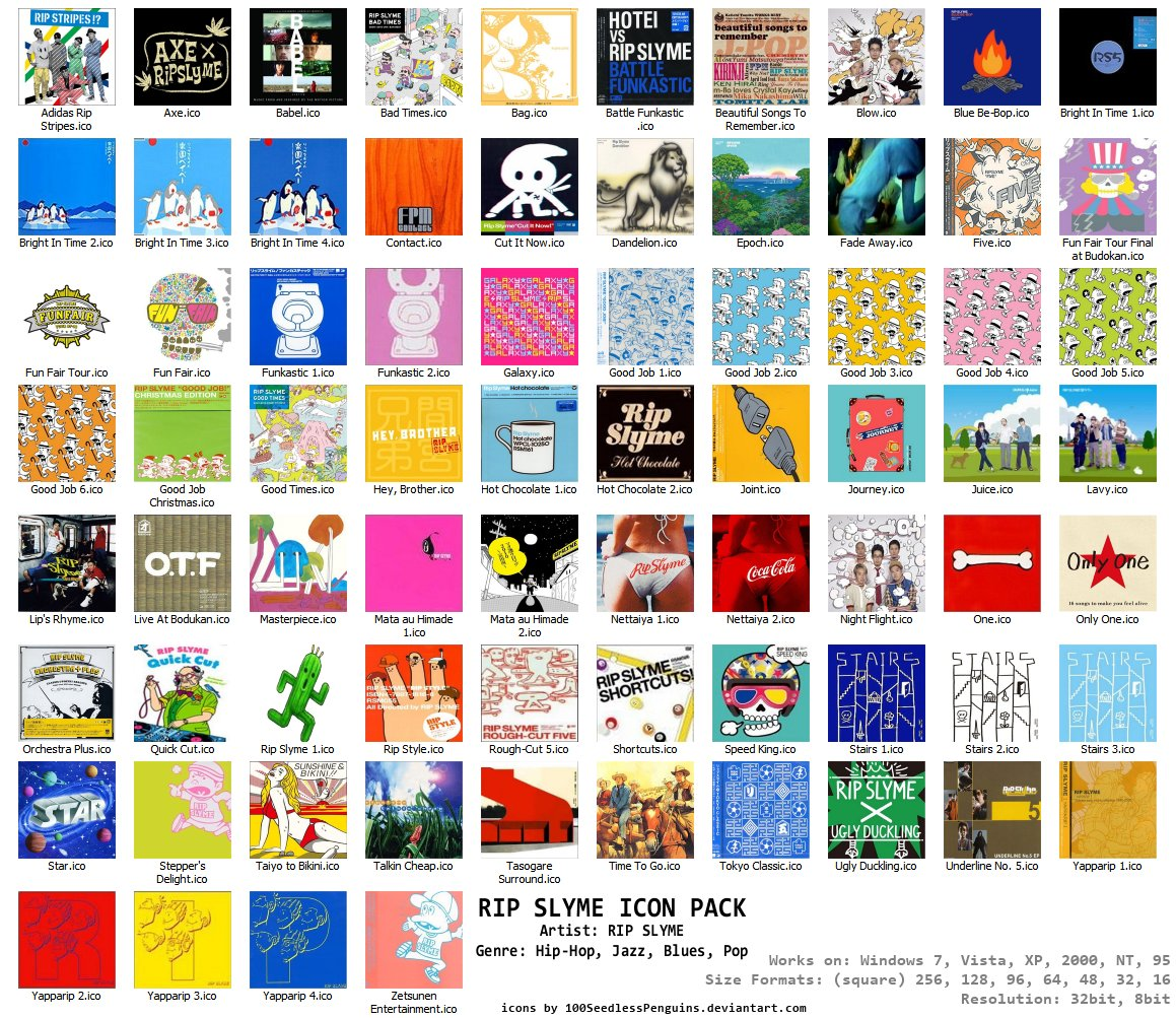 RIP Slyme Albums 74 Icon Pack
