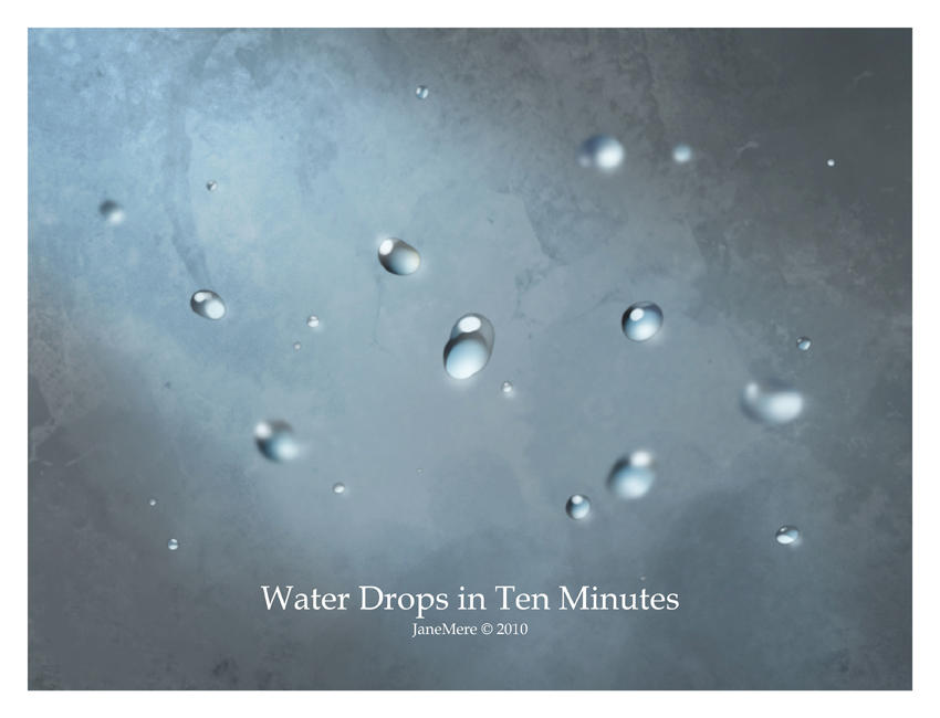 Water Drops Tutorial By Janemere On Deviantart