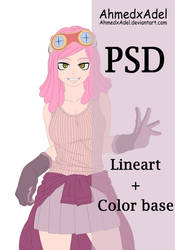 Mei Hatsume -PSD color base+Lineart