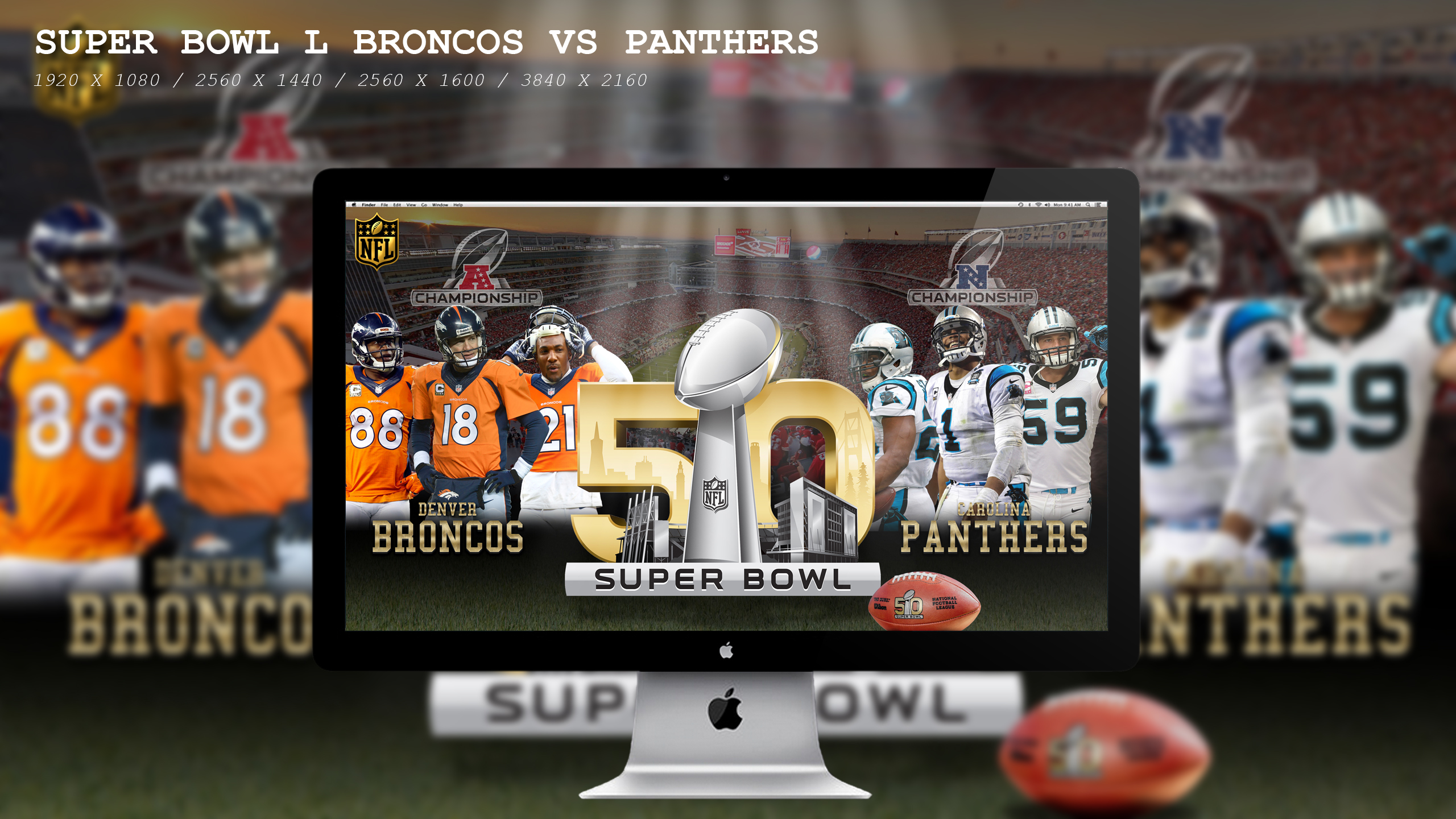 Super Bowl L Broncos Vs Panthers Wallpaper HD by BeAware8 on