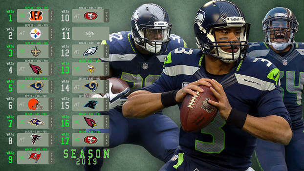 Seattle Seahawks Calandar Season 2019 Wallpaper HD