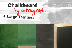 Chalkboard Textures by retrographic