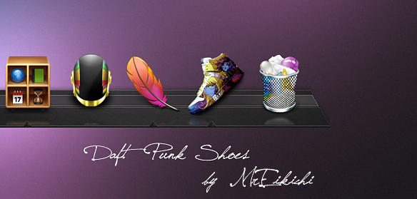 Daft Punk Shoes by MrEikichi