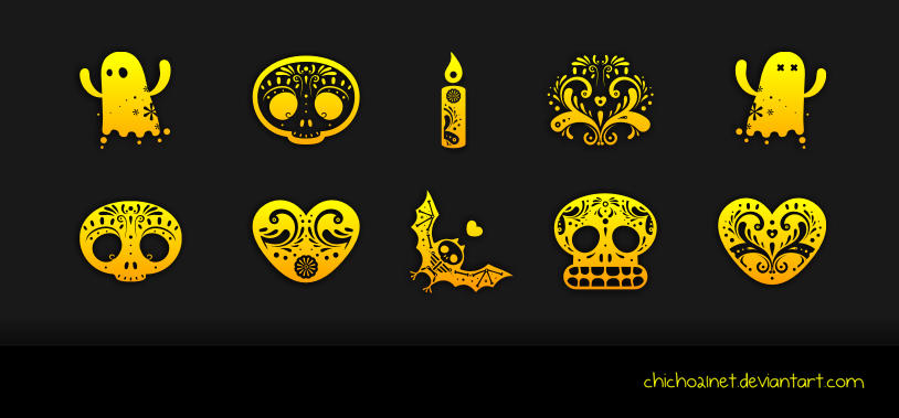 Dia de Muertos Dock Icons by chicho21net