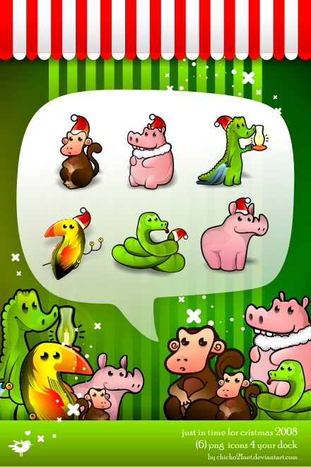 Jungle Bells Dock Icons by chicho21net