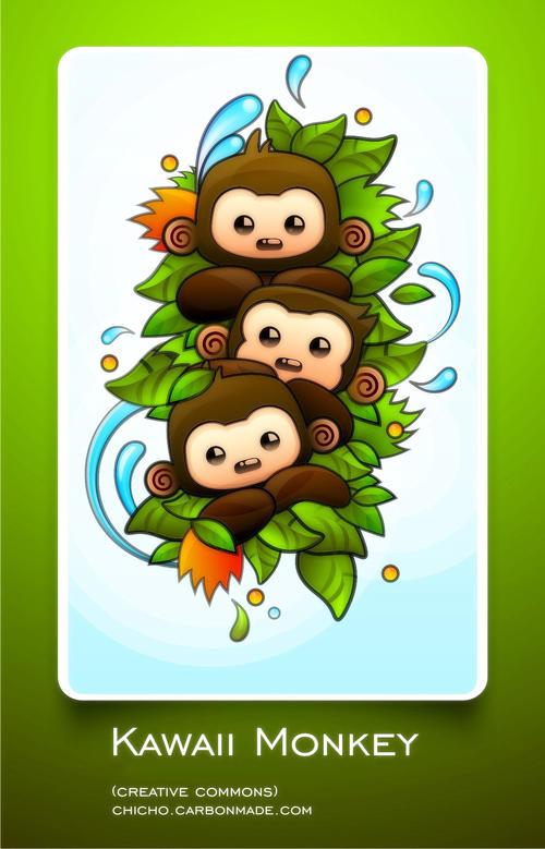 kawaii wallpaper. Kawaii Monkey Wallpaper Pack