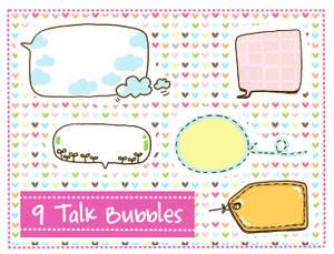 Talk Bubbles Clipart set 2