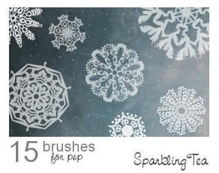 Snowflake Brushes 2
