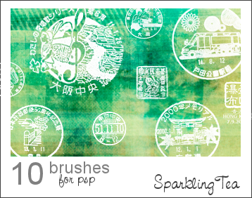 Asian Postmark Brushes by SparklingTea