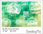 Asian Postmark Brushes