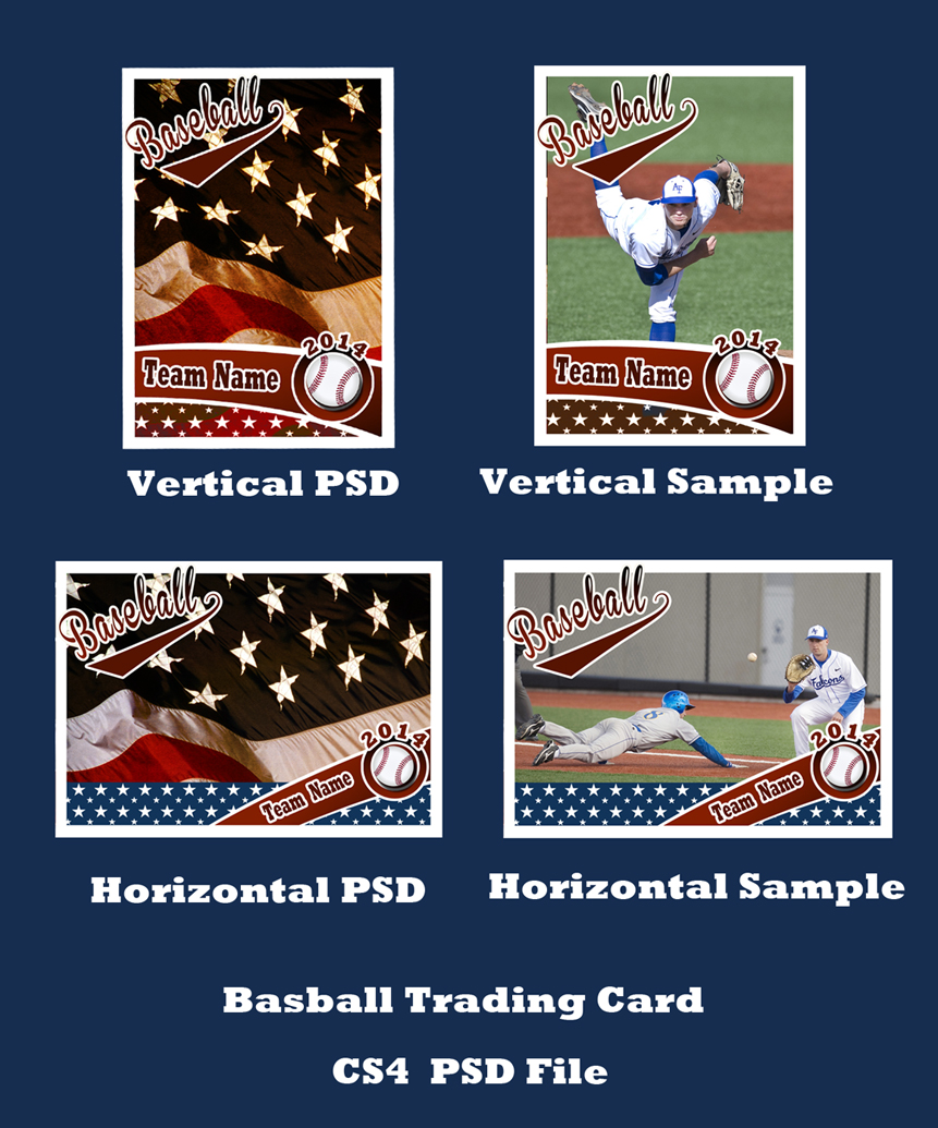 baseball card size template - baseball card template psd cs4photoshop by bevie55 on