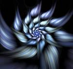 Script spiral flower