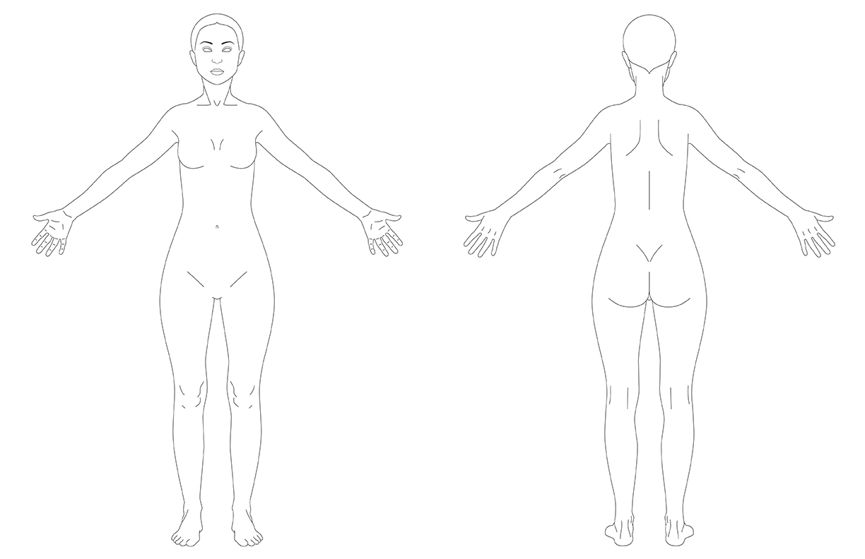Anatomically Correct Female Body Template By Voidqueenelishiva On