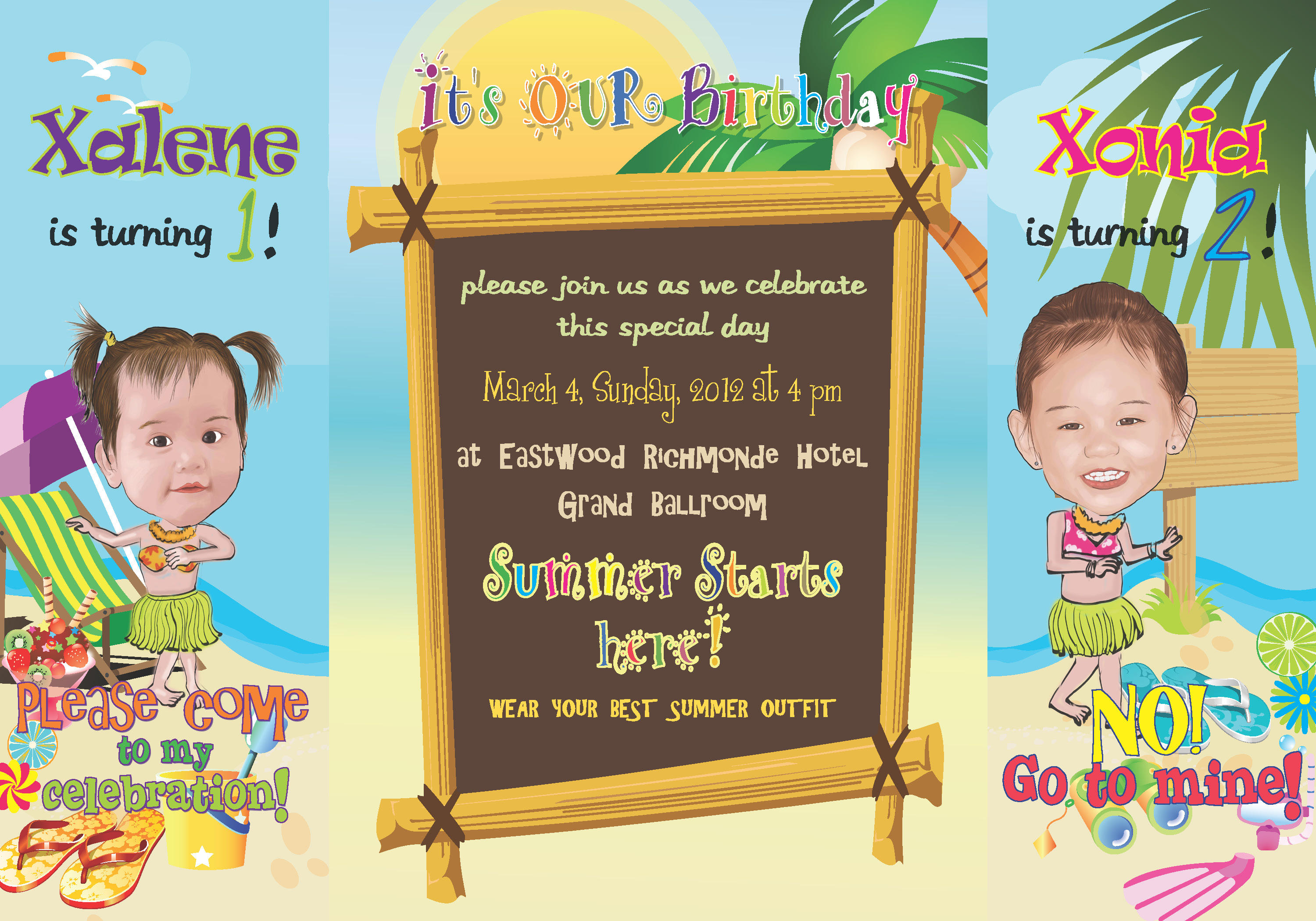 Beach Themed 50th Birthday Party Invitations | Bedroom and Living ...