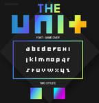 THE UNIT font + 2 styles