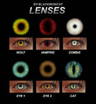 Contact Lenses [ 6 PNG files ]