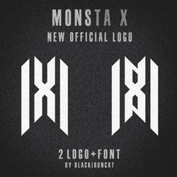 MONSTA X New logo and font