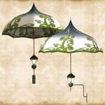 Green Umbrella Lamp
