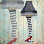 Wicked Witch Leg Lamp