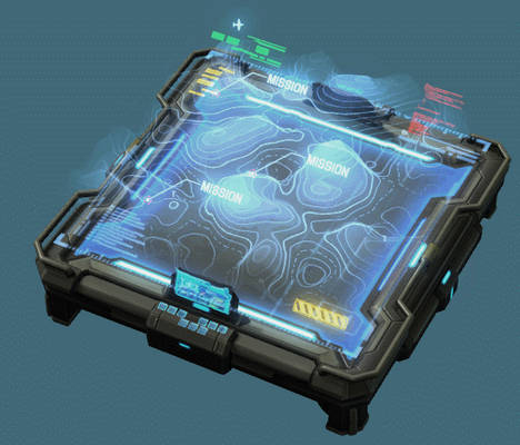 3D hologram table ON OFF switch