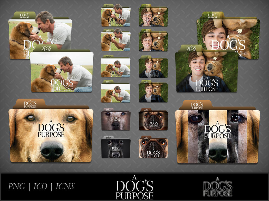 A Dog's Purpose (2017) Movie Folder Icon Pack by DhrisJ