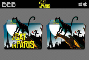 A Cat in Paris (2010) Movie Folder Icon by DhrisJ