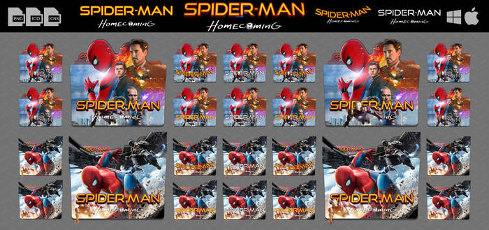 Spider-Man Homecoming (2017) Folder Icon Pack v2