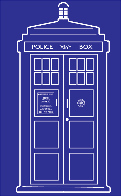 Vector TARDIS by clarvTardis Vector Outline