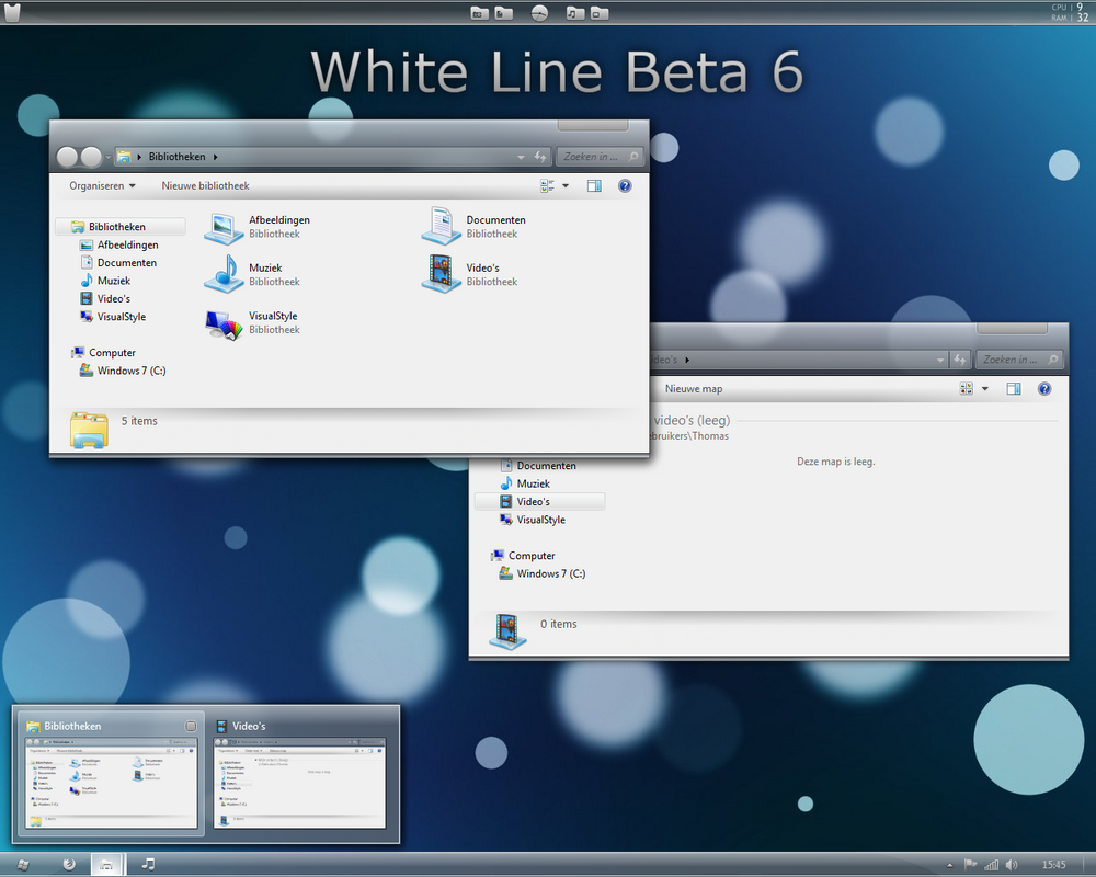 White line for Windows 7