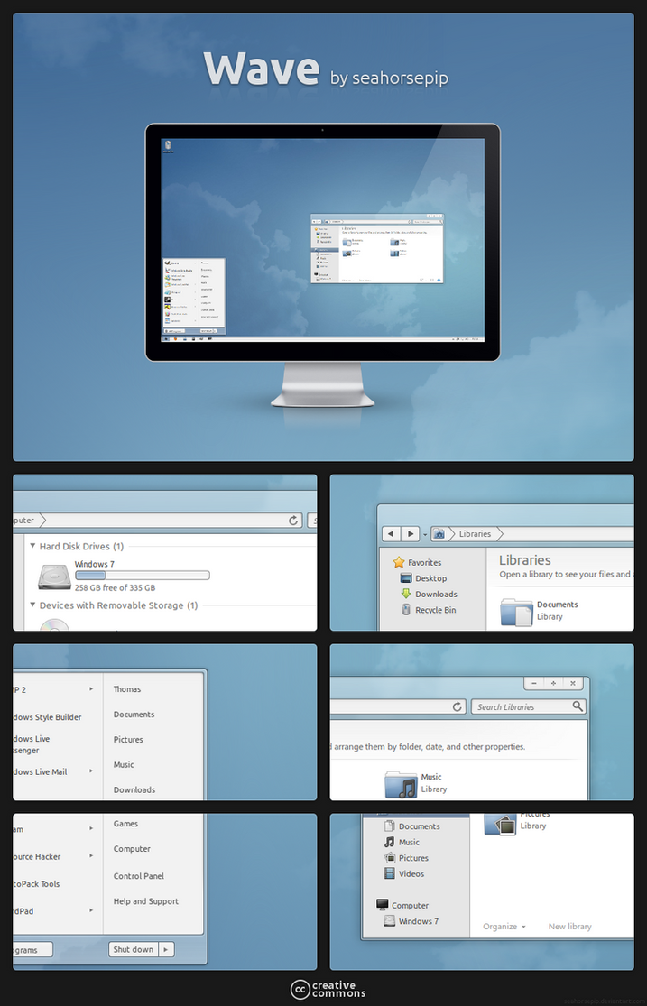Windows 7 theme Wave