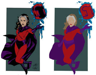 Rogue as Magneto Flats by squidimari
