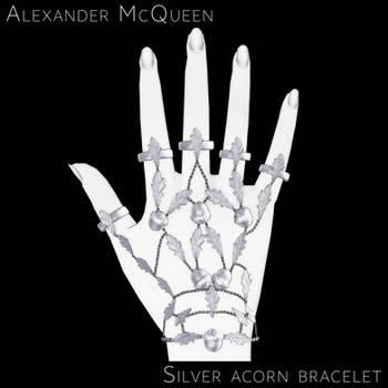 [MMD] Silver acorn bracelet [Closed] by Wt-Jok