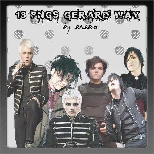 PNGs Gerard Way by KrisPS