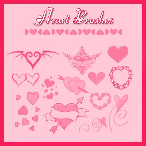 Heart Brushes by KrisPS